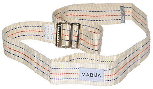 Fantastic Deal! Physical Therapy Gait Belt with Metal Buckle (Beige Large),72