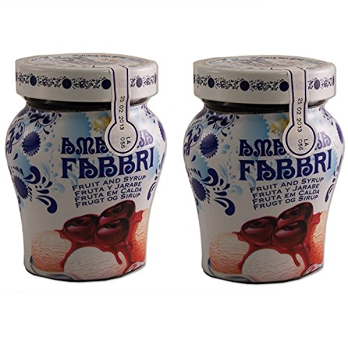 Wild Cherry Syrup - Fabbri Amarena Cherries In Syrup, 8.1 Ounce (Pack of 2)