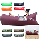 BonClare Fast Inflatable Air Lounger, Camping Bed Beach Sofa Air Bag Hangout Portable Sleeping Bag