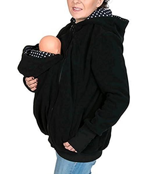 Jinxin Las Mujeres Abrigo Embarazadas Canguro Chaqueta de ...