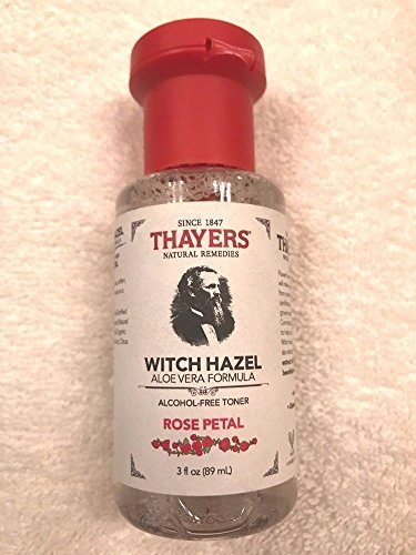 Thayers Rose Petal Witch Hazel with Aloe Vera Alcohol-free (3 Ounces) Travel Size ()