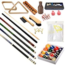 Pool Table - Premium Billiard 32 Pieces Accessory Kit - Pool Cue Sticks Bridge Ball Sets
