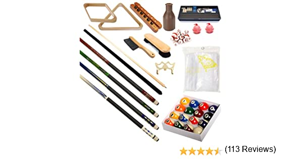 Mesa de billar Premium – Billar 32 piezas Kit de accesorios Billar ...