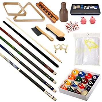 Pool Table   Premium Billiard 32 Pieces Accessory Kit   Pool Cue Sticks  Bridge Ball Sets