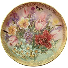 c1991 Lena Liu Tulip Ensemble Symphony of Shimmering Beauty plate CP1561