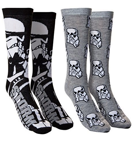 Men's Star Wars Casual Crew Socks (Storm Trooper)