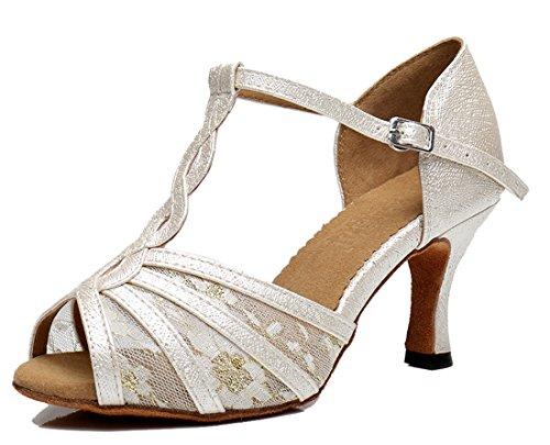 TDA - Zapatos con tacón mujer 7.5cm Heel Ivory
