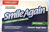 Smile Again Denture, Mouth Guard, Night Guard, Retainer Cleaner and Disinfectant - Mint Flavor - 6 Month Supply ...