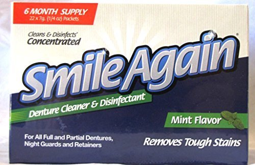 Smile Again Denture, Mouth Guard, Night Guard, Retainer Cleaner and Disinfectant - Mint Flavor - 6 Month Supply ... by Protech