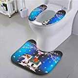 Philiphome Use The Toilet seat of Life Ethnic Tribal Indian Design Pastoral Decorations Ombre Wall Panels Art Fuchsia Non-Slip