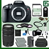 Canon EOS Rebel T5i Digital SLR Camera and EF 75-300mm III Lens + 32GB Greens Camera Package 1