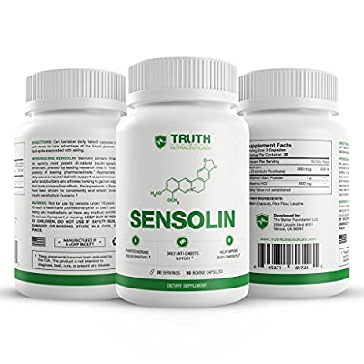 SENSOLIN - All Natural Blood Sugar Control Supplement and Appetite Suppressant