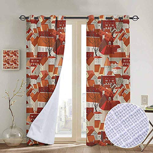 NUOMANAN Curtains for Bedroom City,Landscape Illustration for sale  Delivered anywhere in Canada
