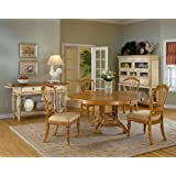 Wilshire 7 Piece Round Dining Set With Side Chairs- Antique Pine