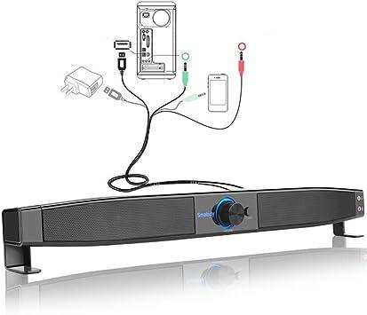 Con conexión de cable de TV barra de sonido, altavoces de la ...