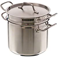 Update International SDB-08 8-Quart Induction Ready Stainless Steel Double Boiler with Cover, Silver