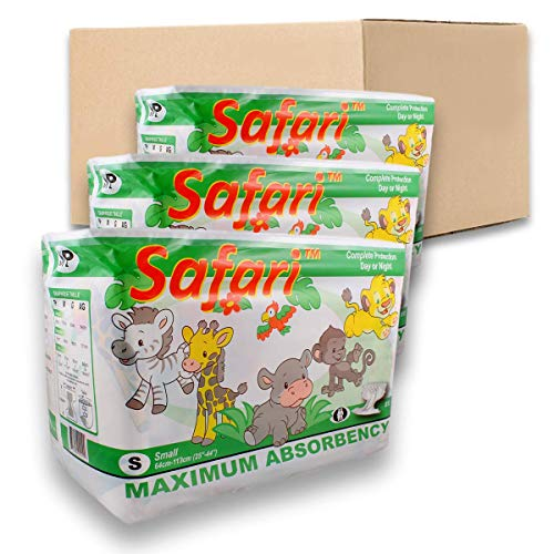 Safari Printed - Rearz - Safari - Adult Diaper (Case of 36) (Medium)