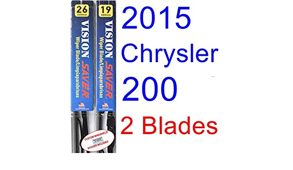 Amazon.com: 2015 Chrysler 200 Replacement Wiper Blade Set/Kit (Set of 2 Blades) (Saver Automotive Products-Vision Saver): Automotive