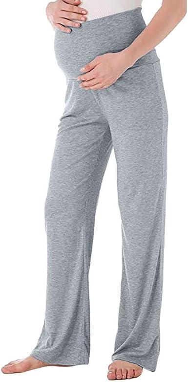 RISTHY Pantalones de Maternidad Mujer Pantalones Deportivos ...
