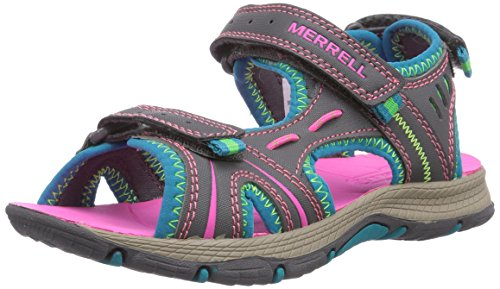 Merrell Panther Athletic Water Sandal , Blue/Pink/Green, 11 M US Little Kid