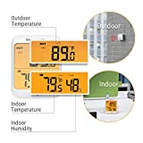 ThermoPro TP63 Digital Wireless Hygrometer Indoor Outdoor Thermometer Wireless Temperature and Humidity Monitor with Cold-resistant and Waterproof Humidity Gauge, 200ft/60m Range