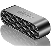 Wireless Bluetooth Speaker, MANA Portable Subwoofer with Enhanced Bass and Modern Design, 10W Dual Driver, Build-in Mic Support Hands-Free, Bluetooth 4.0/TF Card/U Disk/3.5mm AUX Input (Black)