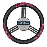 Kyпить NCAA Oklahoma Sooners Leather Steering Wheel Cover, Black, One Size на Amazon.com