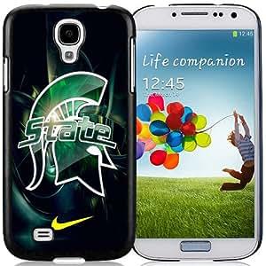 Michigan State Spartans Black Best Sale Fantastic Samsung Galaxy S4 Cover Case