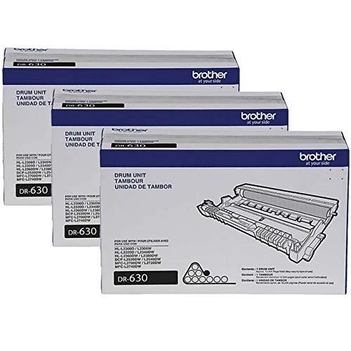 Brother DR-630 DCP-L2520 L2540 HL-L2300 MFC-L2680 L2685 L2700 Drum Unit in Retail Packaging / 3-Toner Cartridges