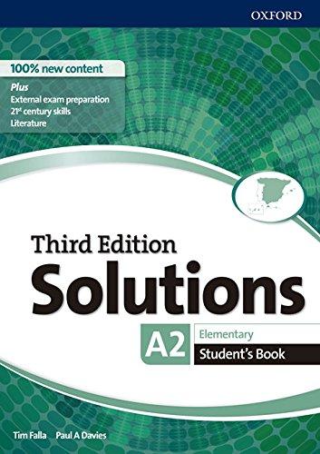 51Y1 Aqt7bL Solutions elementary student's book 3ed editado por Oxford