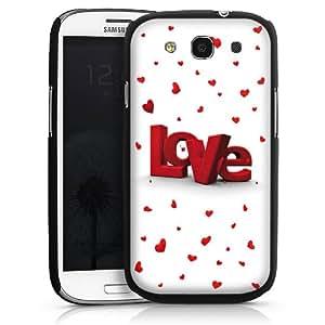 Carcasa Design Funda para Samsung Galaxy S3 i9300 / LTE i9305 HardCase black - 3D Love
