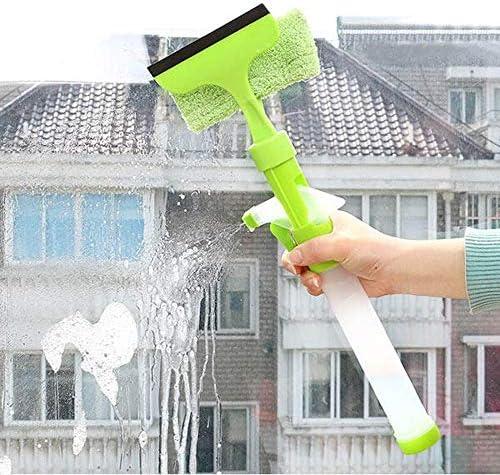 掃除用品 マジック多機能クリーニングブラシWindowsのタイルの世帯のクリーニングツールは、スキージシャワースプレー 家庭用 (Color : Green, Size : One size)
