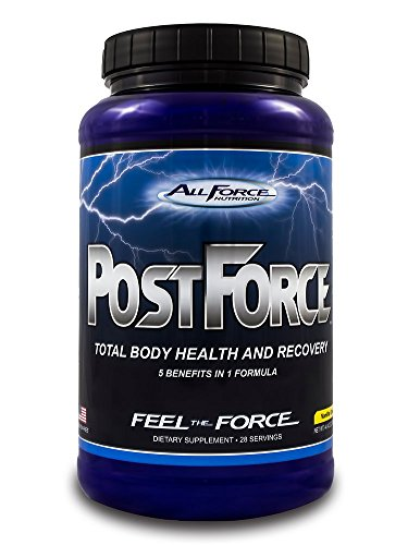 Post Force by All Force Nutrition - Delicious Vanilla Cream Whey Protein - Total Body Post Workout (Muscle Building, Joint Health, and Recovery Powder). Mixes easily with water or milk. (28 servings)