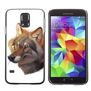iKiki-Tech Estuche rígido para Samsung Galaxy S5 - Beautiful Wolf Painting
