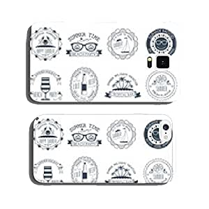 Summer vacation emblems stickers set cell phone cover case Samsung S5