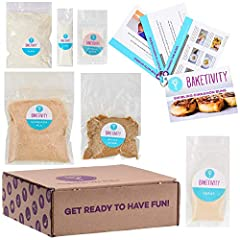 BAKE, BOND, AND LEARN TOGETHER WITH A BAKETIVITY GIFT: Share the joy of baking with your little ones and get them away from the video games, tablets, phones, and TV! Baketivity supplies step-by-step recipe cards & pre-measured ingredients...