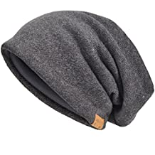 Men's Slouch Beanie Skull Cap Lined Oversize Baggy Winter Hat CFB305