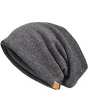 Vecry bomullsmössa för män, stickade mössor, slokhatt, mössa, skalle, hatt, vinter, sommar, hattar
