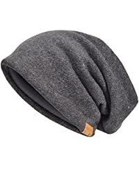 JESSE · RENA Men's Slouch Beanie Skull Cap Lined Oversize Baggy Winter Hat CFB305