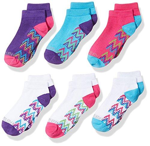 Fruit of the Loom Girls' 6-Pair Low Cut Socks