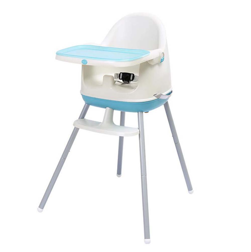 Portable Foldable Baby Highchair, Booster Seat,Junior Seat,Contempo Highchair,Removable Tray,adjustment Height Dining Chair (Color : Blue) Onfly