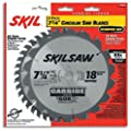 SKIL 75312 7-1/4-Inch Saw Blade Combo Pack with 18 Tooth Crosscutting and Ripping Blade and 40 Tooth Finishing Blade by Skil