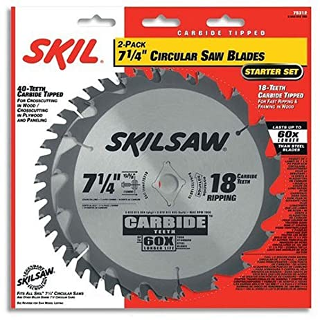 Skil 75312 7 14 inch saw blade combo pack with 18 tooth skil 75312 7 14 inch saw blade combo pack with 18 tooth greentooth Images