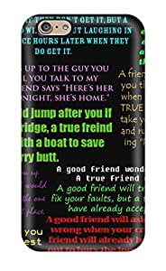 Premium KpNxzsW3870qlFEK Case With Scratch-resistant/ Funny Friendship Quotes Case Cover For Iphone 6