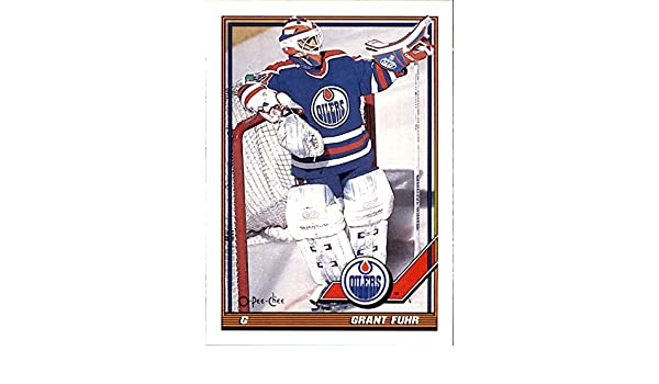 1991 92 O Pee Chee 84 Grant Fuhr Edmonton Oilers Nhl Box71