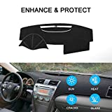 windshield dash cover - SAILEAD Car Dashboard Carpet,Dash Board Cover Mat Fit for Toyota Camry 2007,2008,2009,2010,2011 (Black)