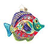Christopher Radko Fish with a Flourish Animal Christmas Ornament