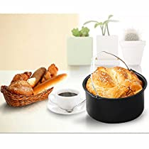 Deep Fryers Universal Air Fryer Accessories,for Air Fryer Fit all 3.7QT-5.3QT-5.8QT,Set of 5-7 Inch Including Cake Barrel,Baking Dish Pan,Grill,Pot Pad, Pot Rack with Silicone Mat
