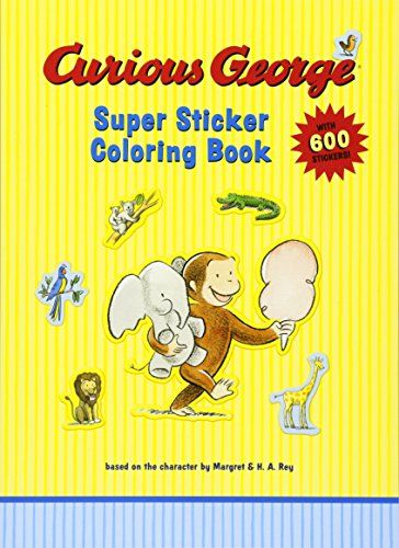 Curious George Super Sticker Coloring Book ()