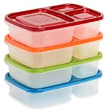 EasyLunchboxes 3-Compartment Bento Lunch Box